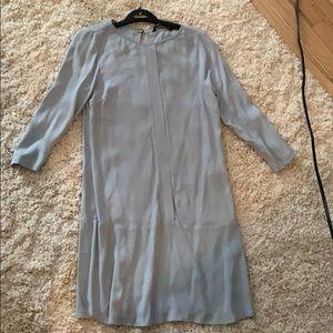 Zara long sleeved blue dress xs